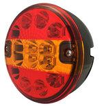 LED Achterlicht Multifunctioneel (Hamburgerlamp) 12/24V  Zonder kabel