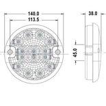 LED rond achteruitrijlamp 12/24V
