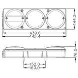LED Achterlicht Multifunctioneel Links (Hamburgerlamp)   Complete Unit  12/24V