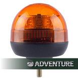 LED Zwaailamp Compact enkel schroefdraad bevestiging 12/24V Reg 65