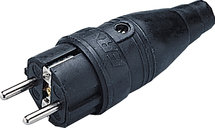 Rubberen stekker met randaarde / 250V
