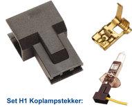 LAMPSTEKKER SET H1 INCL CONTACT