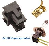 LAMPSTEKKER SET H7 INCL CONTACT(10+20)