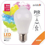 Avide Smart LED Globe E27 10W  NW 4000K with PIR sensor
