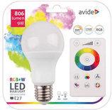 Avide Smart LED Globe E27 9W RGB+W 2700K with IR remote