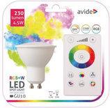 Avide Smart LED GU10 4.5W RGB+W 2700K with IR remote