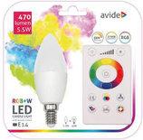 Avide Smart LED Candle E14 5.5W RGB+W WIFI APP Control