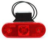 LED markeerlicht + steun  Specificaties:  12/24V E-gekeurd IP 66/68 22cm kabel  Functies:  Reflectoren
