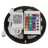 LED STRIP 4,8W 60LEDS/M RGB 5M + REMOTE   4,8W IP65 60LEDS per meter RGB 5 meter 12V 6000-7000K