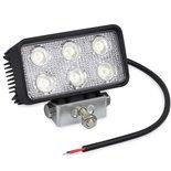 LED werklamp (1170 Lm)  Specificaties:  10/30V 1170 Lumen 6x3W LEDs 6000K IP67 Aluminium behuizing Zuinig in energiever