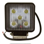 LED werklamp (975 Lm)  Specificaties:  12V 975 Lumen 5x3W LEDs 6000K IP68 Aluminium behuizing Zuinig in energieverbruik
