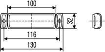 Breedtelicht 24V met 0,3m kabel en Quick-Link-connector incl.klemstuk voor een 2-aderige platte kabel