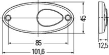 Zijmarkeringslamp LED 12V schroefbevestiging