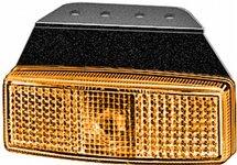 Zijmarkeringslamp met reflector, met haakse steun voor montage onder de laadvloer, 12V