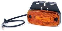 Zijmarkeringslamp 12V met reflector, kabel 0,5m, met steun