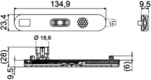 Zijmarkeringslamp LED 24V met reflector kabel 195mm 2-polig AMP-contact zwarte behuizing horizontale montage