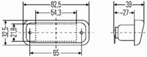 Kentekenlamp 24V, incl.24V gloeilamp