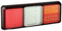 LED achterlicht met zwarte rand  | 12-24v | 40cm. kabel