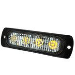 4 LEDs flitser oranje 10/30V  R10
