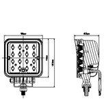 LED 48 watt werklamp 4150 lumen explorer 10-30V