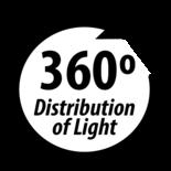 LED Zwaailamp 3-Bouts montage 12-24V  Reg 65